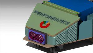 xe tự hành vận chuyển hàng trong kho AGV